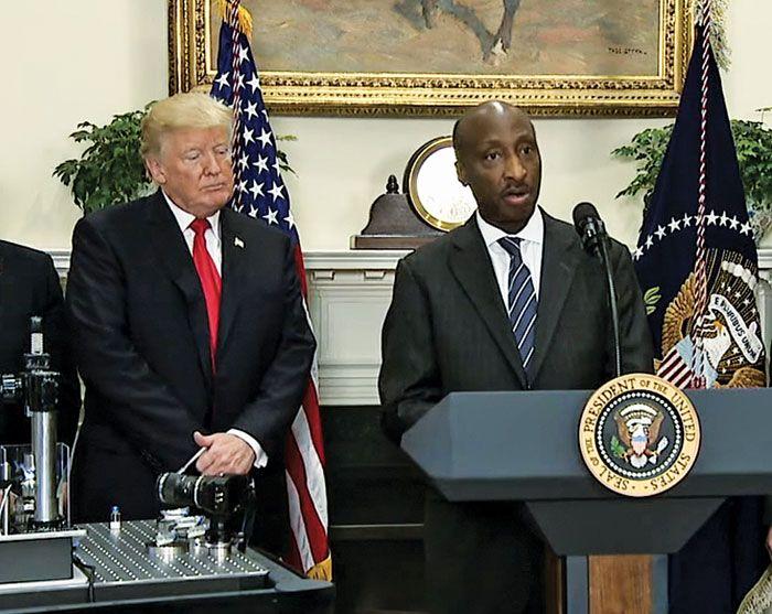 Trump disbands manufacturing council
